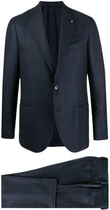 Lardini Single-Breasted Check Suit