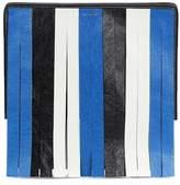Balenciaga Bazar fringed leather clutch