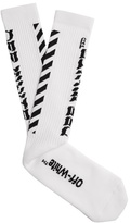 Off-White Diag cotton socks