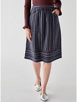 People Tree Andrea Stripe Skirt, Multi