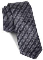 BOSS Geo Stripe Silk Skinny Tie