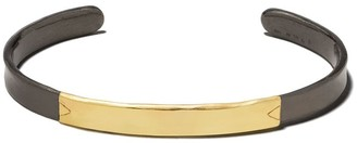 5 Octobre 14kt yellow gold and black silver Bibo cuff