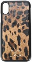 Dolce & Gabbana leopard print iPhone X case