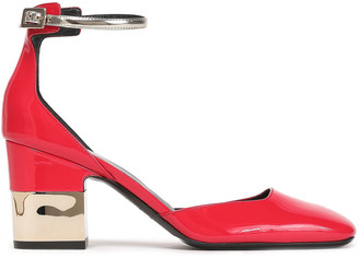 Roger Vivier Metallic-trimmed Patent-leather Pumps