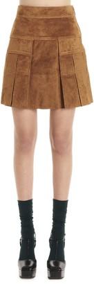 Prada Pleated A-Line Mini Skirt