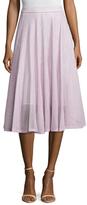 Maje Mesh Midi A-Line Skirt