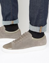 HUGO BOSS HUGO by Toe Cap Suede Sneakers