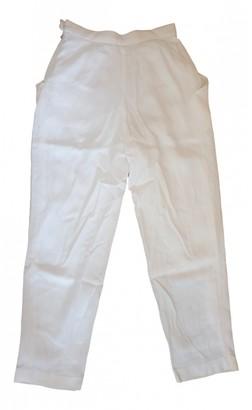 agnès b. Ecru Trousers for Women