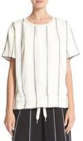 DKNY Paneled Shirt with Inside Drawstring