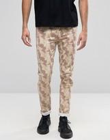 Asos Skinny Jeans In Desert Camo
