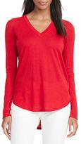 Lauren Ralph Lauren Silk-Blend V-Neck Sweater