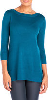 Cable & Gauge Three-Quarter Sleeve Tunic