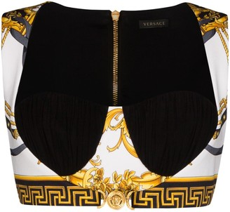 Versace Baroque print bralette top