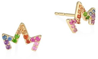 Anzie Multicolored Sapphire & 14K Yellow Gold Earrings