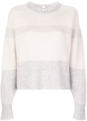 Le Kasha Keith panelled cashmere jumper