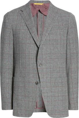 Hickey Freeman Classic Fit Wool Blend Plaid Sport Coat