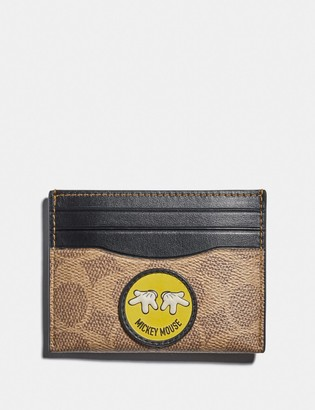 Coach Disney X Card Case In Signature Canvas With Patches