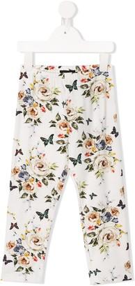 MonnaLisa Floral Butterfly Print Leggings