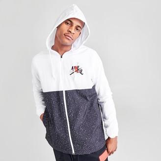 Nike Men's Jordan Mashup Jumpman Classics Windwear Full-Zip Hooded Jacket