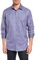 Bugatchi Men's Classic Fit Shepherd's Check Sport Shirt