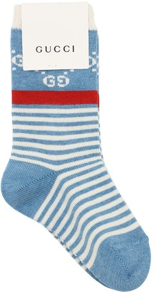 Gucci Logo Intarsia Cotton Knit Socks