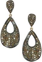 Bavna Champagne Diamond Teardrop Earrings