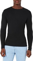 Topman Men's Rib Knit Long Sleeve T-Shirt
