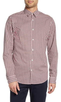 Selected Stone Slim Fit Button-Up Shirt