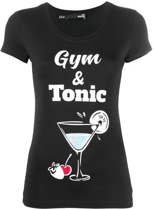 Love Moschino Gym & Tonic round neck T-shirt