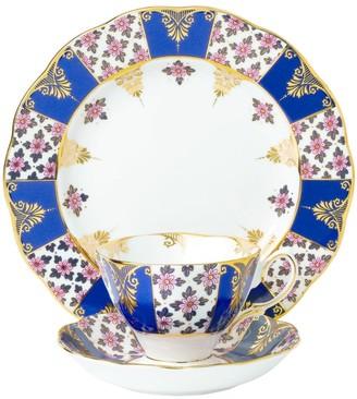 Royal Albert Regency Blue 1900 3-Piece Tea Set