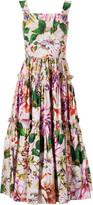 Dolce & Gabbana Floral Printed Flared Dress