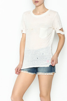 Honey Punch Ripped Sleeve Tee