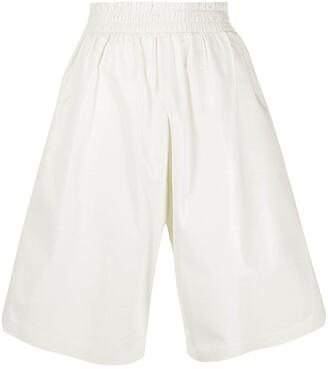 Bottega Veneta Wide Leg Knee-Length Shorts