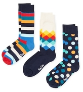 Happy Socks Dots & Stripes Socks (3 PK)