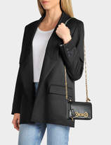 Versace Tribute Icon Small Shoulder Bag in Black Calfskin