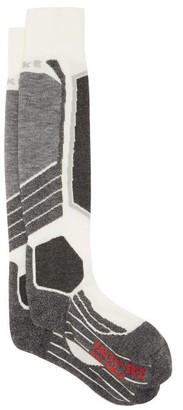 Falke Sk2 Knitted Ski Socks - White Multi