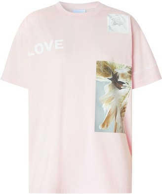 Burberry oversized montage print cotton T-shirt