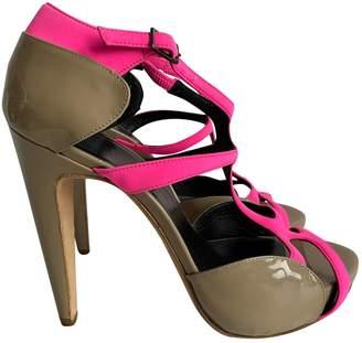 Pierre Hardy Pink Suede Heels