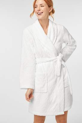 Next Womens White Paisley Carved Snuggle Robe - White