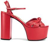 Gucci Crawford Platform Sandals in Heron Red | FWRD