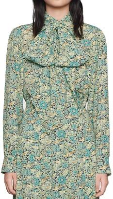 Gucci Liberty Floral Print Crepe Shirt