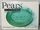 Pears Oil-clear, Bar Soap, With Lemon Flower Extract, Dermatologist Tested, 4.4 Oz by