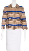 Akris Punto Linen Striped Jacket