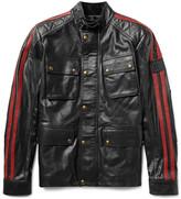 Belstaff Daytona Slim-Fit Striped Leather Jacket