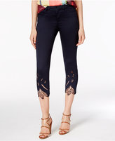 Catherine Malandrino Jacques Crochet-Trim Cropped Pants