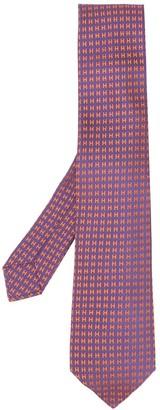 Hermes jacquard H motif tie
