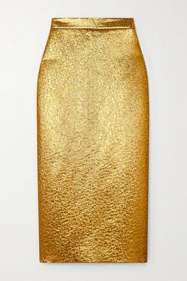 Valentino Embellished Lame Midi Skirt