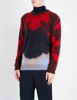 Oamc Patterned mohair-blend jumper