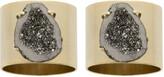 Joanna Buchanan Druzy Stone Napkin Ring - Set of 2 - Gold