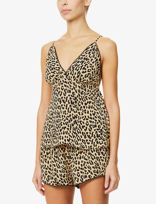 Rails Charlotte leopard-print jersey pyjama set